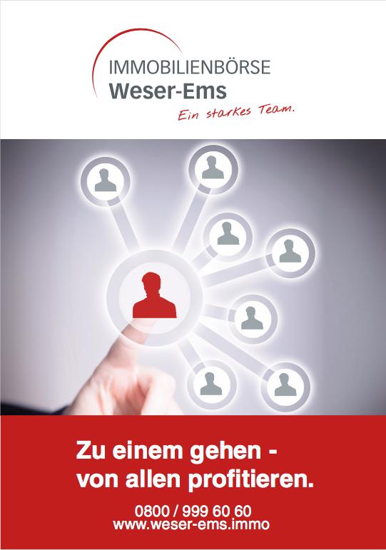 Schauen Sie sich die Imagebroschüre der Immobilienbörse Weser-Ems an