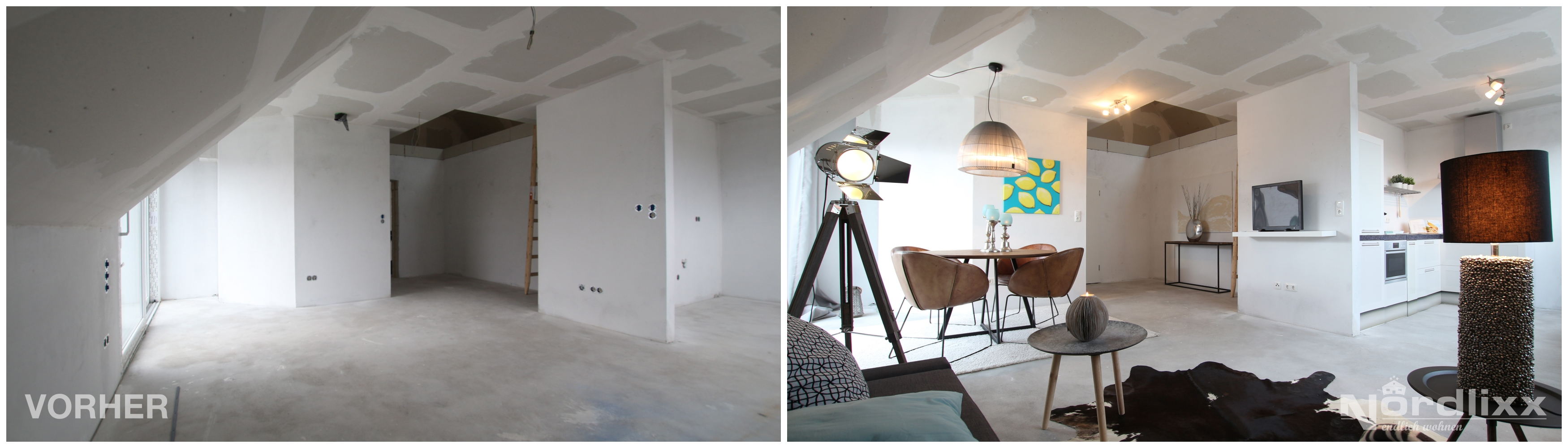 homestaging im rohbau. Black Bedroom Furniture Sets. Home Design Ideas