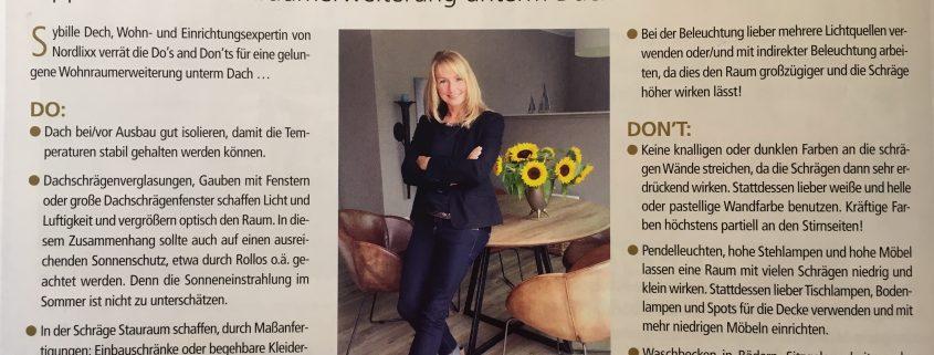 Wohnraumberatung in dem Oldenburger Magazin City News