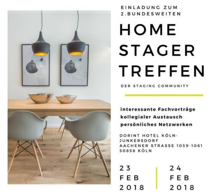 branchentreff der staging community in k ln austausch netzwerken fortbildung homestaging. Black Bedroom Furniture Sets. Home Design Ideas