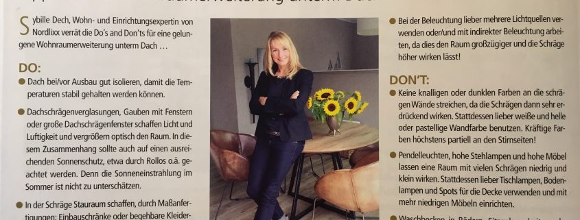 Wohnraumberatung in dem Oldenburger Magazin City News